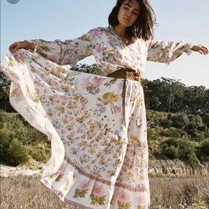 Spell wild bloom maxi skirt